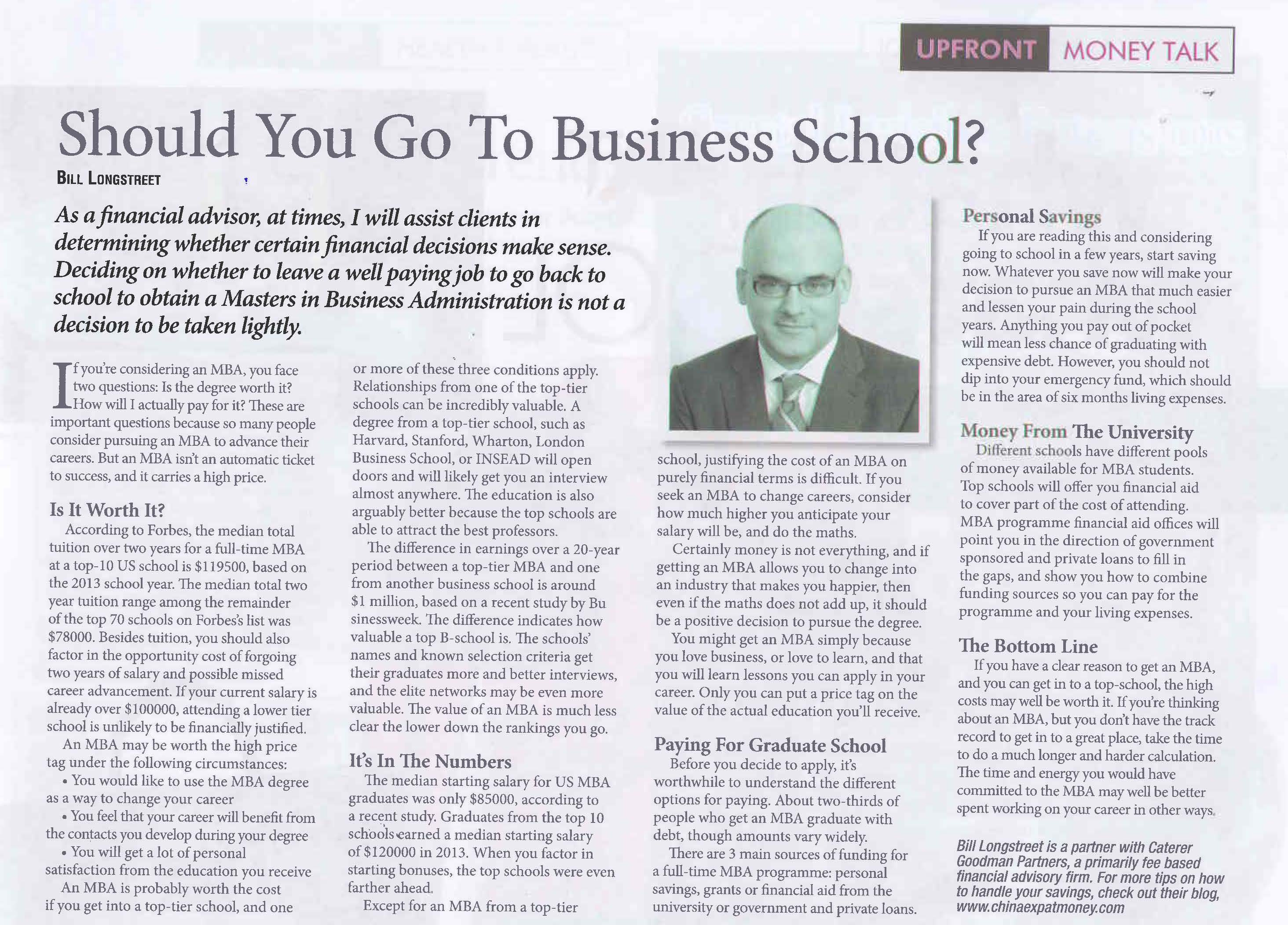 should you go to business school expat money blog by should you go to business school